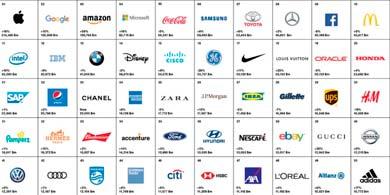 Apple, Google y Amazon, las tres marcas más valiosas del mundo