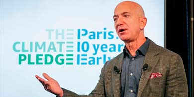 Jeff Bezos prometió una Amazon descarbonizada para 2040