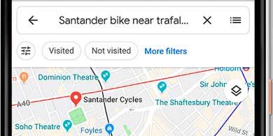 Bikesharing: Google Maps publica información sobre disponibilidad de bicicletas