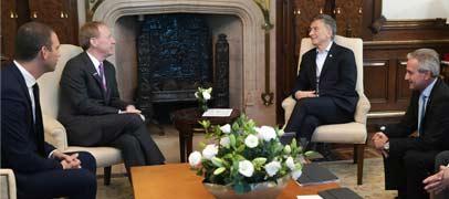 Macri recibió al presidente de Microsoft Corporation, Brad Smith